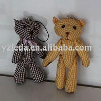 plush bear keyring/plush mini bear/stuffed keyring toy