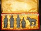 Pure handmade clay color 5 pieces set terra-cotta statue