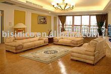 luxury and comfortable antique european style genuine leather sofa set villa sofa B46030