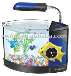 smart apperance mini fish tank /blue light LED mini aquarium/ mini table fish tank