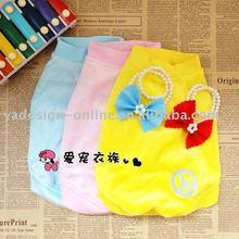 APA012 Hot sale popular solid color plain 100% cotton dogs t-shirt;pet clothes 2011