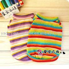 APA013 Hot sale popular solid color plain 100% dogs t-shirt;pet clothes 2011