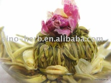 100% Hand-made Flowering Tea Balls,Rose&Jasmine