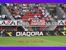 Stadium perimeter LED screen display