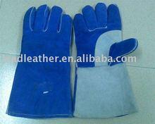 cow split leather long welding glove 2012