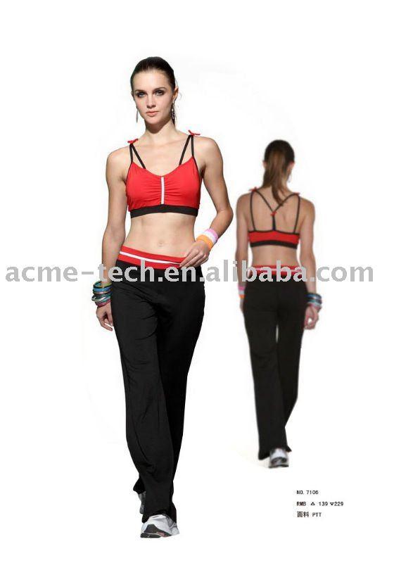 fitness and sport wear for women;ladies` sexy gym wear size:S,M,L,XL,XXL ...