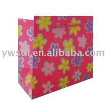 2012 Fashion flower series red paper pyramid bag