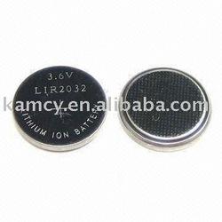 LIR2032 LIR 2032 lithium Rechargeable Button Battery 3.6V