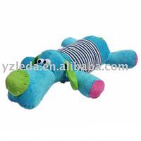 plush blue dog baby toy