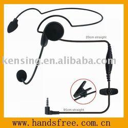 Headband walkie talkie headset
