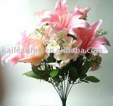 Artificial flower 11-head bush rose flower