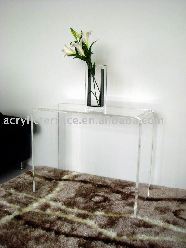 k plexiglass console table