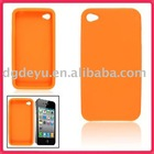 For Apple iPhone 4 silicone,rubber Bumper/Skin Case Cover for Apple iPhone 3G 3GS *NEW* for iphone4&4G(high quality)- Orange