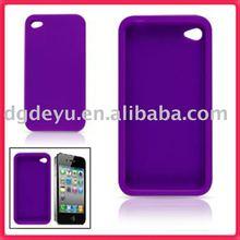 For Apple iPhone 4 silicone Bumper/Skin Case Cover for Apple iPhone 3G 3GS *NEW* for iphone4&4G(high quality)-Purple