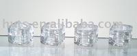 5ml plastic transparent cream jar