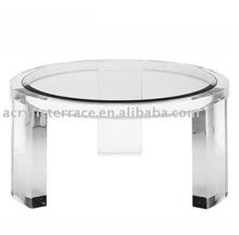 Round Clear Plexiglass Coffee Table