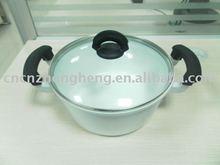 UNIQUE 2011 NEW! White Ceramic Die-cast Aluminium Non-stick Soup Pot