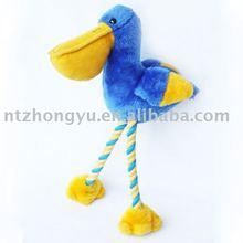 alien animal stuffed plush pelican rope toy