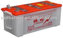 12V acid lead dry truck storage battery 165ah