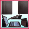 for iPad PU Leather Case Cover protective Flip Stand ,Mat Case (book style) - coffee
