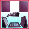 PU/Leather Case for iPad 2 Cover protective Flip Stand ,Mat Case (book shaped) - purple