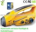 Sirene lanterna manivela com carregador e rádio
