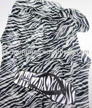 Zebra Stripe print short chiffon sarong