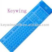 85keys waterproof flexible wireless silicone keyboard
