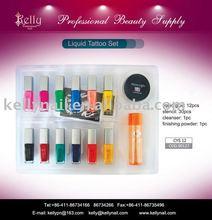 12 colors liquid body tattoo set