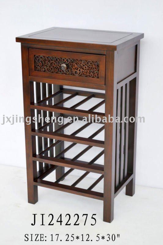 nuevo artículo # muebles de madera antigua de vino de la botella de