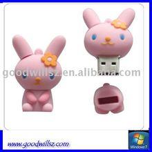 2012 New Pink Rabbit Usb Flash Drive 1GB 2GB 4GB