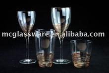 Handmade swirl red wine/white wine/hiball/dof glass