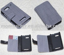 Mobilephone case Jean looks PU leather case for Moto ME525 (Defy)