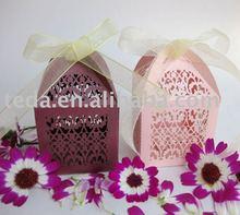 hot 2011 filigree wedding favor box,retail business,MOQ500pcs/color