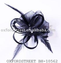 new fashion feather fabric flower brooch