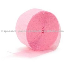 Pink Crepe Paper, party items