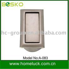 modern zinc alloy recessed cabinet furniture handle
