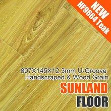 HF9664 Teak Handscraped & Wood Grain