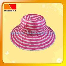 women's braid and ribbon floppy hat