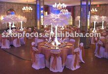 Bases flower stand Ostrich feather decoration wedding centerpieces