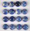 C121 Sodalite Jasper Puffy Coin Cabochon semi-precious gemstone