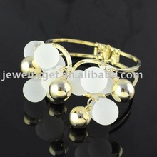 free shipping,bangles, gold fashion beads bangles ,2011 new design BR-1219