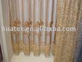 Cortina bordar tecido, bordado de organza da cortina de tecido, laço do bordado da cortina de tecido