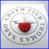 encanto rojo corazón precioso colgante de esmalte de joyería