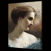 Decorative impressionism portrait oil painting