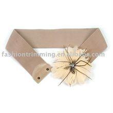 Beautiful Feather Flower Elastic Belts BLT4590