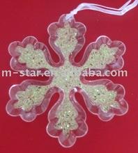 acrylic trasparent snowflake christmas hanging decorations AB white