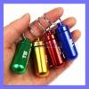 Mini Cute Outdoor Gadgets Mini Metal Pill Box Bottle Novelty Keychain
