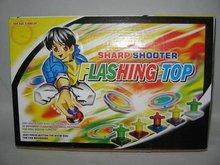 WIND UP FLASHING PEG-TOP
