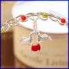 plata aves encanto joyas de esmalte de joyería colgante